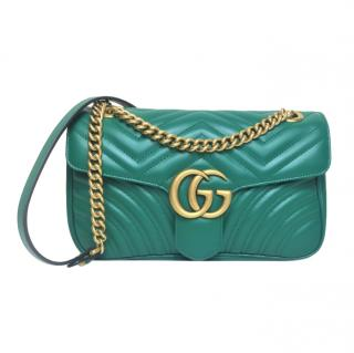 Gucci Emerald Green Small Marmont Bag