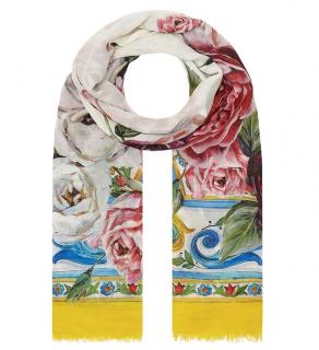 Dolce & Gabbana Sicily Floral Print Wrap Shawl