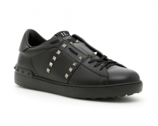 Valentino Rockstud Untitled Leather Low-top Sneakers