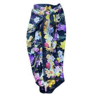 Dolce & Gabbana Floral Print Wrap Shawl