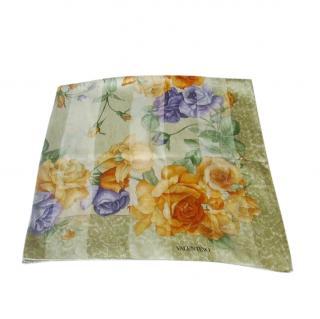 Valentino Vintage Silk Printed Scarf