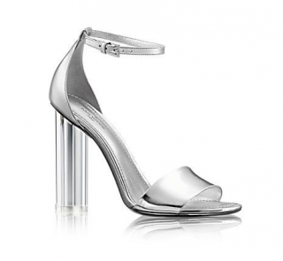 Louis Vuitton Silver Crystal Flower Sandals