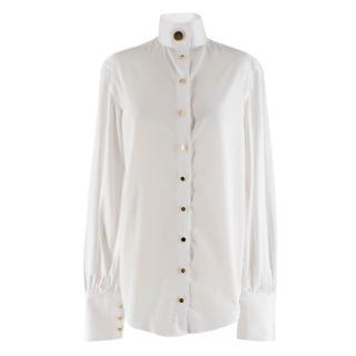 Anna Quan White Oversized Collar Shirt