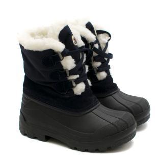Moncler Kid's Christian Fleece-lined Runber Snow Boots