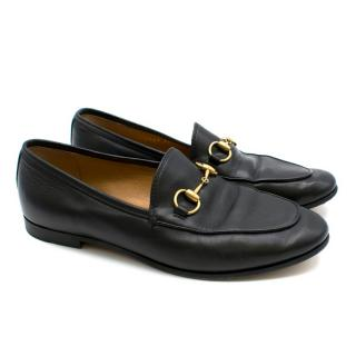 Gucci Black Leather Classic Horsebit Loafers