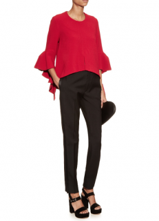 Ellery Red Ruffle Sleeve Top