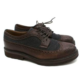 Brunello Cucinelli Track Sole Brown Brogues