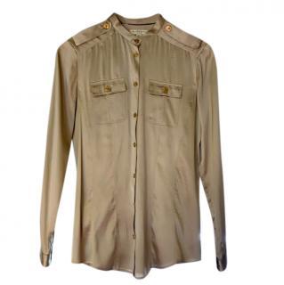 Burberry champagne gold silk shirt