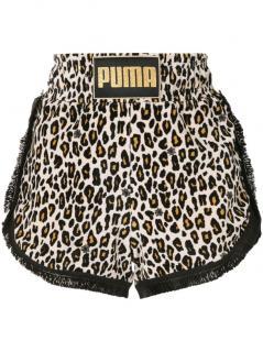 Charlotte Olympia x Puma animal print velvety shorts