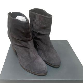 Rag And Bone grey suede ankle boots