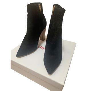 See by Chloe Black Suede Ankle Boots
