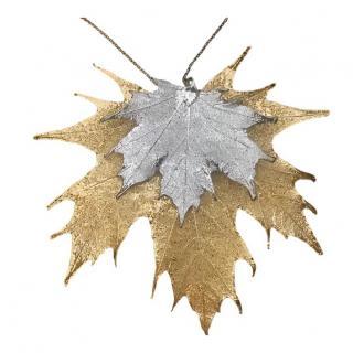 Ikigai Gold Plated Maple Leaf Pendant Necklace