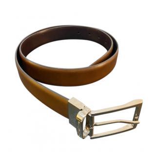 Ermenegildo Zegna Reversible Brown Slim Belt