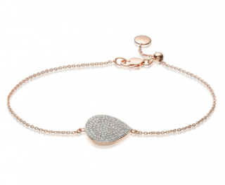 Monica Vinader Rose Gold Vermeil Diamond Alma Bracelet