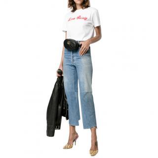 Ganni Harway Love Society White T-Shirt