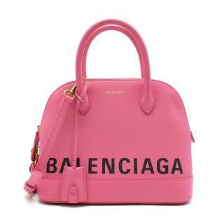 Balenciaga Ville Small Top Handle Bag in Pink calfskin