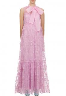 Self Portrait Tear Drop Pink Sleeveless Maxi Dress