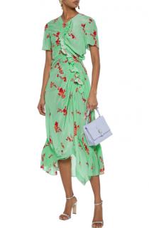 Preen Line Serelida asymmetric Green floral-print Dress