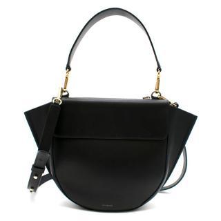 Wandler Black Hortensia Medium Leather Tote Bag