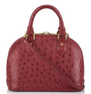 Louis Vuitton Ostrich Alma BB Bag