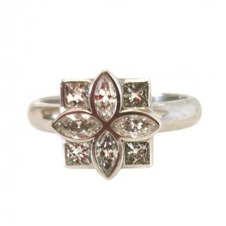 Bespoke White Gold Diamond Cluster Ring