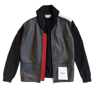 Alexander McQueen Leather Panelled Jacket