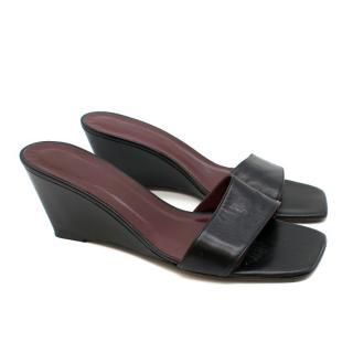 Staud Billie Square-toe Leather Wedge Mules