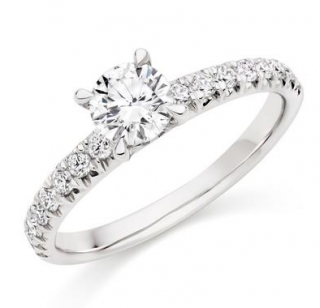 Bespoke Platinum Diamond Solitaire Ring