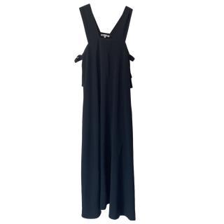 Helmut Lang Black Tie Side Tunic Dress