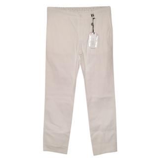 Versace men's white chinos