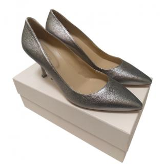 Sergio Rossi Silver Court Pumps