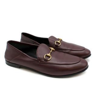 Gucci Maroon Jordaan Collapsible Heel Loafers