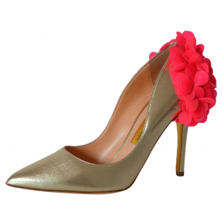 Rupert Sanderson Rio Rita Nappa Leather Pumps