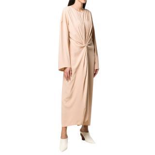 MM6 Maison Margiela Nude Long Sleeve Knot Dress