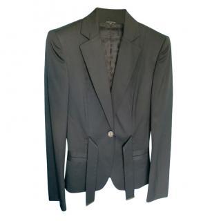 Gucci Black Fitted Tie Detail Blazer