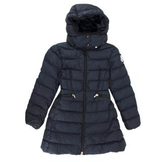 Moncler Kids Navy Puffer Jacket with Hood