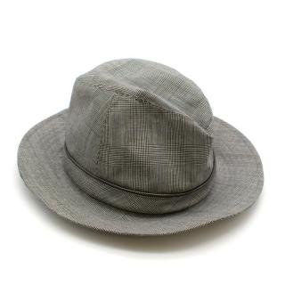 Christian Dior Prince Of Wales Grey Check Trilby
