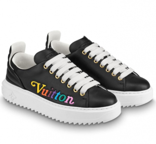 Louis Vuitton Black Time Out Rainbow Sneakers