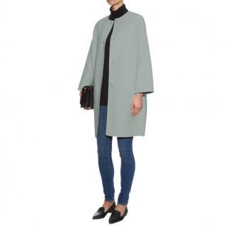Max Mara Wool Cocoon Coat in Pale Blue