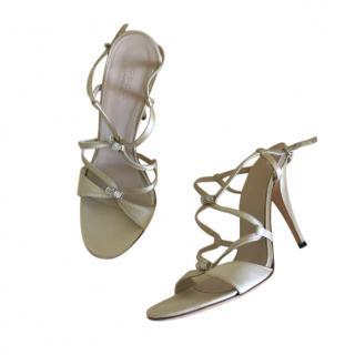 Gucci Vintage Satin Champagne Sandals