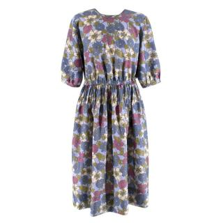 YMC floral Print Midi Dress