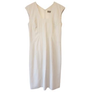 Amanda Wakeley Cream Sleeveless Shift Dress