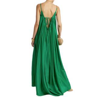Loup Charmant Gather Scoop-Back Silk-Georgette Dress