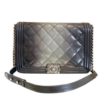 Chanel Ombre Glazed Lambskin Large Boy Bag