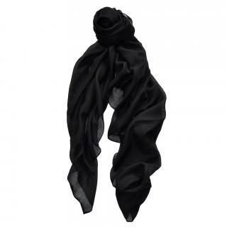Saint Laurent large cashmere & silk blend scarf