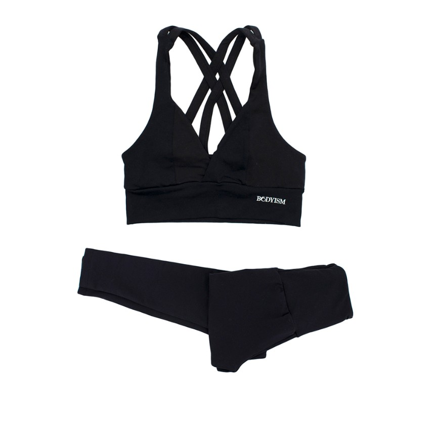 Bodyism Black Sports Bra And Leggings Set