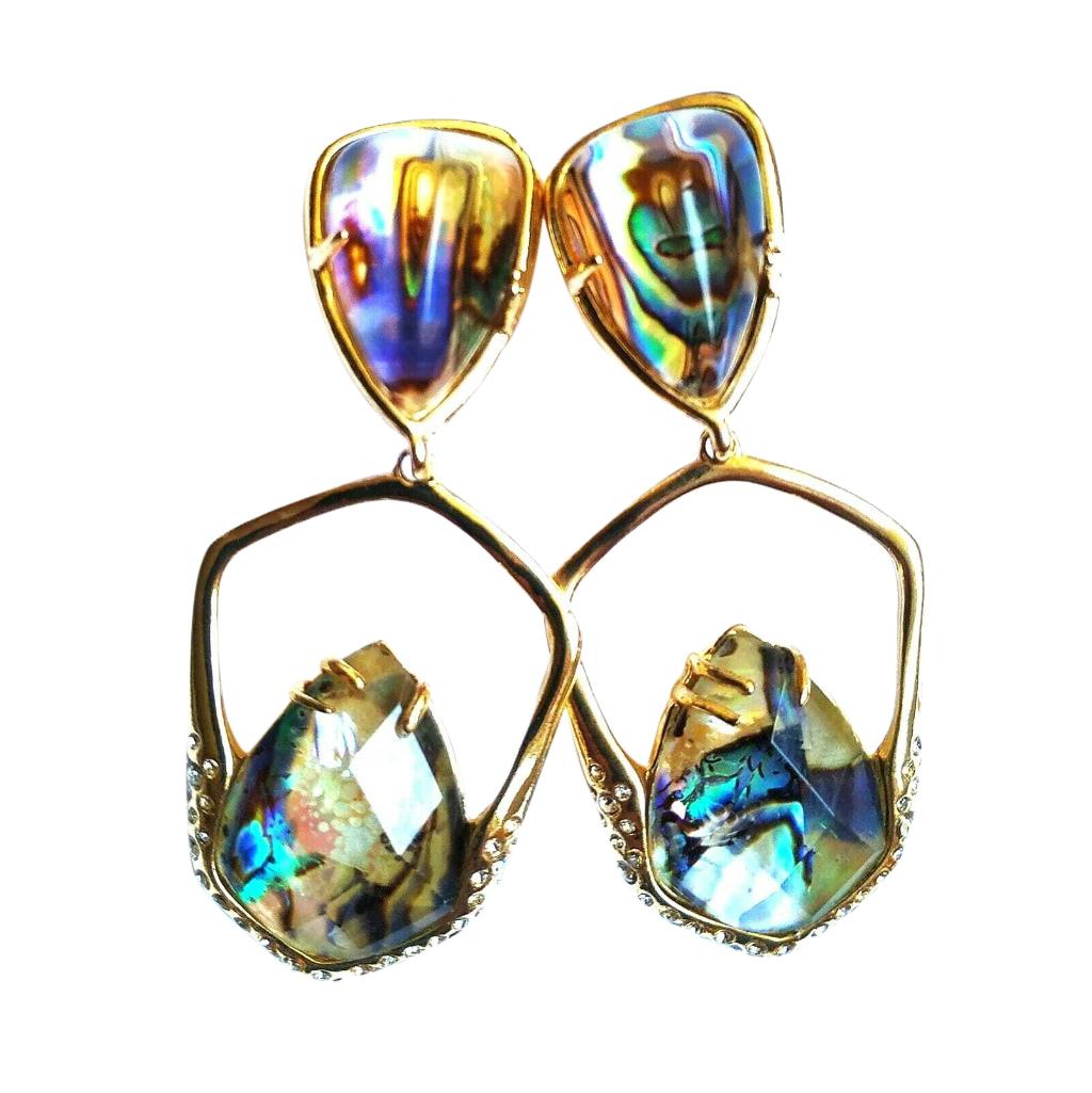 Alexis Bitter Miss Havisham Kinetic Gold Moonstone Earrings