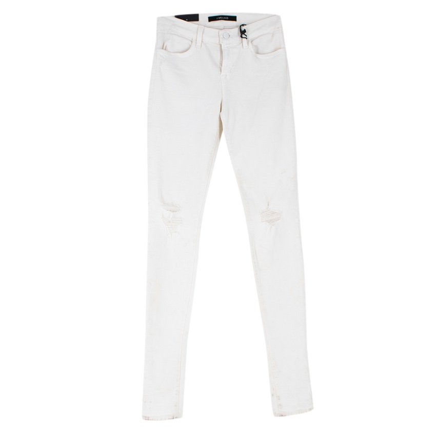 J Brand Stacked Super Skinny White Jeans