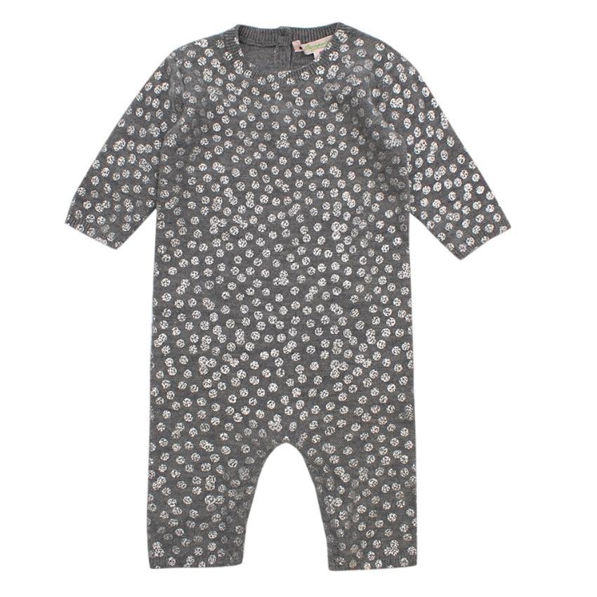 Bonpoint Grey Polkadot Grey Babygrow