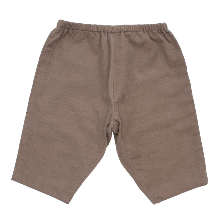 Bonpoint Taupe Corduroy Baby Trousers